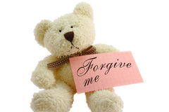 Teddy - forgive me Royalty Free Stock Photography