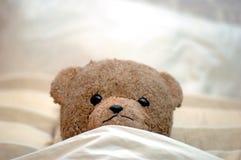 Teddy gaat naar bed royalty-vrije stock foto