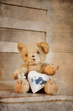 Teddy heart Royalty Free Stock Photos