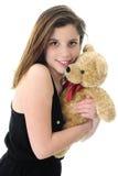 Teddy-Hugging Teen Royalty Free Stock Photo