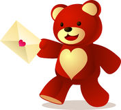 Teddy letter Royalty Free Stock Photo