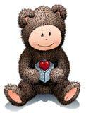 Teddy in liefde Stock Foto