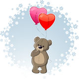 Teddy with love Stock Images