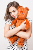 Teddy love. Royalty Free Stock Images