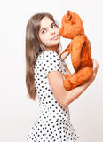 Teddy love. Royalty Free Stock Photo