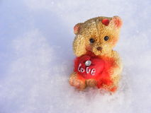 Teddy love. For a valentine day Royalty Free Stock Photography