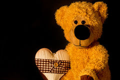 Teddy loves you. Teddy with heart for you Stock Photography