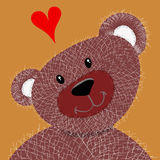 Teddy in lovve Stock Images