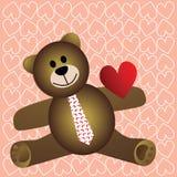 Teddy met hart op koker Stock Fotografie