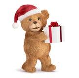Teddy met Kerstmis Stock Afbeelding
