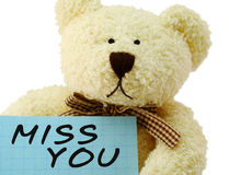 Teddy miss you stock photos