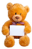 Teddy orange bear Stock Photo