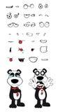 Teddy panda bear cartoon emotions set crying Stock Images