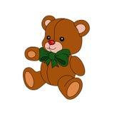 Teddy. Pet fun cartoon teddy bear stock illustration