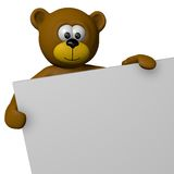 Teddy presentation Royalty Free Stock Photos