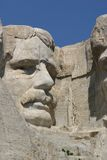 Teddy Roosevelt. Mt. Rushmore in August with a beautiful blue sky in the background Stock Image