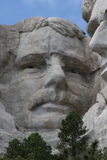 Teddy Roosevelt on Mount Rushmore Stock Photo