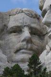 Teddy Roosevelt on Mount Rushmore stock photo