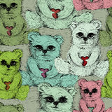 Teddy's pattern Royalty Free Stock Image