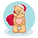 Teddy santa claus Stock Image
