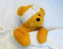 Teddy is sick Royalty Free Stock Photos