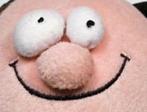 Teddy Smiling Face. Smiling face of a stuffed toy with bulging eyes Stock Photography