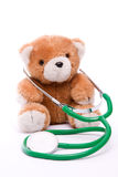 Teddy with Stethoscope Royalty Free Stock Images