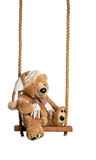 Teddy On The Swing Arkivbilder