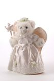 Teddy Tree Topper. Teddy Bear Tree Topper dressed as the Fairy GodMother angel royalty free stock photo