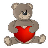 Teddy with valentine Royalty Free Stock Images