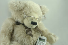 Teddy wants to make a call Royalty Free Stock Photography