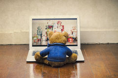 Teddy watching Stock Images