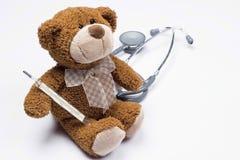 Teddybär als Doktor Lizenzfreies Stockfoto