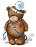 Teddybär-Audiologe Lizenzfreie Stockfotografie
