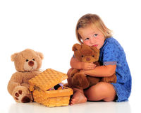 Teddybär-Bequemlichkeit stockbild