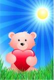 Teddybär betreffen sonnigen Sommerhintergrund Stockbild