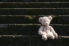 Teddybär betreffen Treppen Stockbild