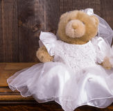 Teddybär-Braut Stockfoto