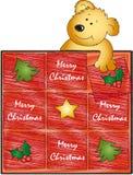 Teddybär der frohen Weihnachten Lizenzfreie Stockfotografie