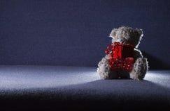 Teddybär in der Leuchte stockbild