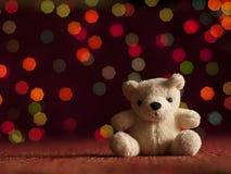 Teddybär des neuen Jahres. Lizenzfreies Stockfoto