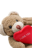Teddybär des Valentinsgrußes. Lizenzfreies Stockfoto