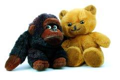 Teddybär getrennt auf weißem Hintergrund Lizenzfreie Stockbilder