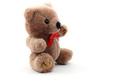 Teddybär getrennt auf weißem Hintergrund Stockbild