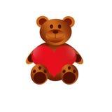 Teddybär-glücklicher Valentinsgruß-Tag Lizenzfreie Stockbilder