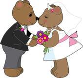 Teddybär-Hochzeit Lizenzfreies Stockbild