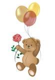 Teddybär im Himmel Stockfoto