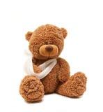 Teddybär im Kranken Lizenzfreie Stockfotos