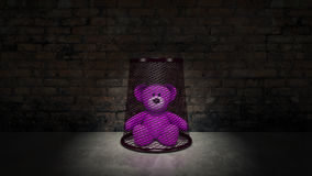 Teddybär - Konzept des Kindesmissbrauchs Lizenzfreie Stockbilder