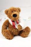 Teddybär am Krankenhaus Lizenzfreies Stockbild